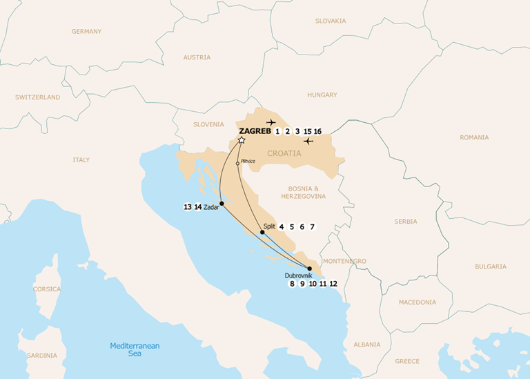 Croatia airports map the best airport of 2018 croatia on map airports in 800 x 750 publicscrutiny Images