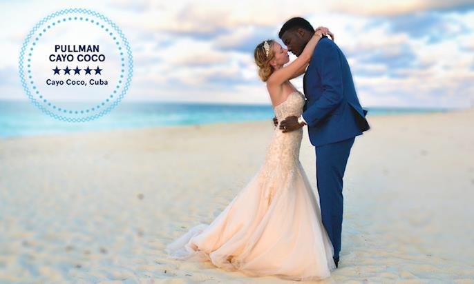 mariage Audrey et Mboma plage Cayo Coco
