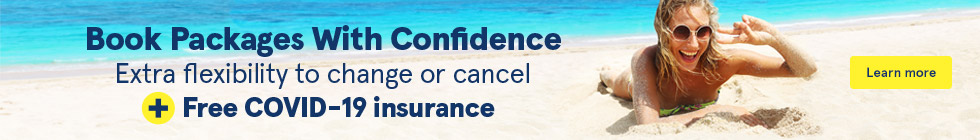 Book Packages With Confidence. Extra flexibility to change or cancel + free COVID-19 insurance. Learn more