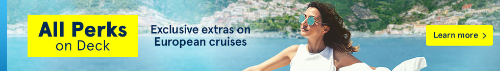 All Perks on Deck. Exclusive extras on European cruises. Learn more.