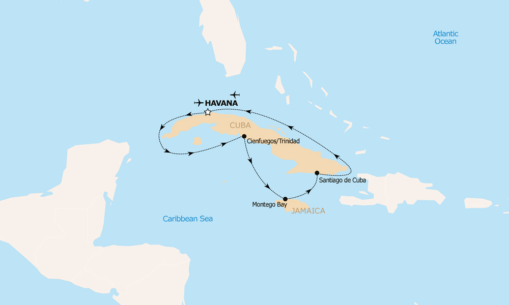 Travel To Cuba The South Transat - Where is cuba on a map