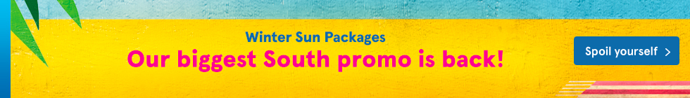 Winter Sun Packages. Our biggest South Promo is back!