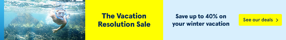 The Vacation Resolution Sale. Save up to 40% on your winter vacation. See our deals.